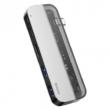 Baseus Transparent Adapter Dual Type -C tp 5 in 1 Grey