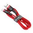 Baseus Cafule Durable Lightning USB 2m Red