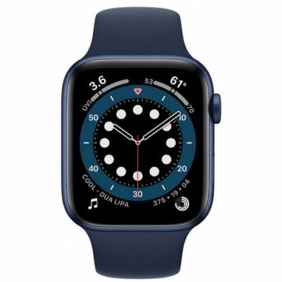 Apple Watch Series 6 44mm Blue Alumínium Case Deep Navy Sport Band Gps