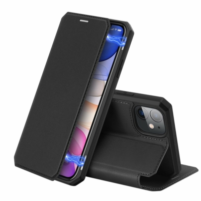 Dux Ducis iPhone 11 Skin X Pure Black Bookcase