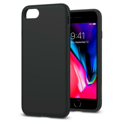 Spigen Liquid Crystal iPhone 7/8/SE 2020 Matte Black Case
