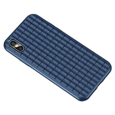 iPaky iPhone XS Max Waffle Flexible Cover TPU Blue Case