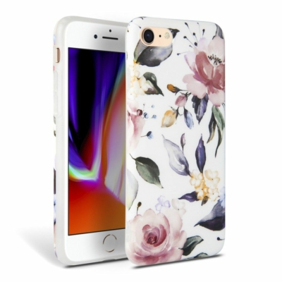 Tech Protect iPhone 7/8/SE 2020 Floral White Case