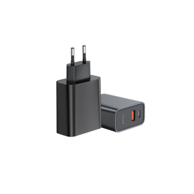 Bases Speed Quick Charger USB + Type-C Black