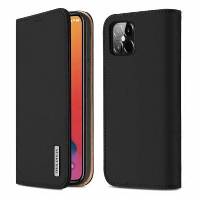 Dux Ducis Wish Genuine Leather Bookcase iPhone 12 Pro Max, Black