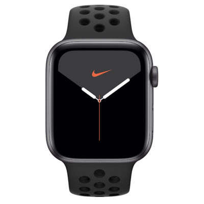 Apple Watch Series 5 Cellular+GPS 44mm Nike Space Gray Alumínium Case Anthracite Black Sport Band