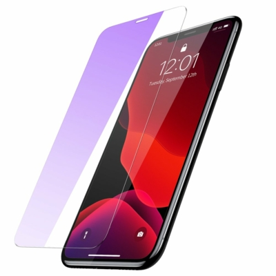 Baseus 0.15 mm Full-glass Anti-bluelight edzett üveg iPhone XR