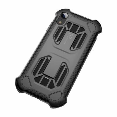 Baseus Cold Front Cooling szellőzőnyílással fekete iPhone XR