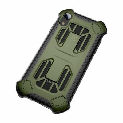 Baseus Cold Front Cooling szellőzőnyílással zöld iPhone XR
