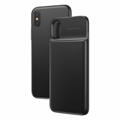 Baseus 5000mAh-es beépített Powerbank tok fekete iPhone X