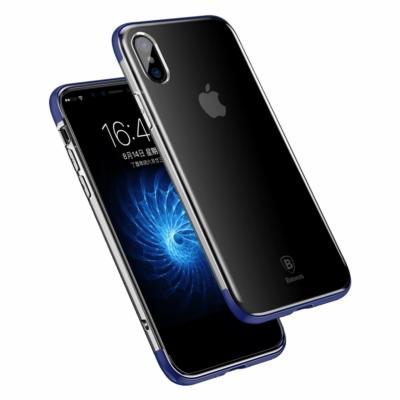 Baseus Armor Gél tok kék iPhone X
