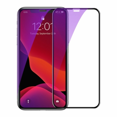 Baseus 0.23 mm curved-screen edzett üveg anti-bluelight iPhone XS Max
