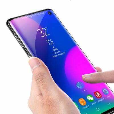 Baseus Full-screen 2x Full Coverage Kék-sugár szűrő 3D üvegfólia Samsung Galaxy S10 Plus