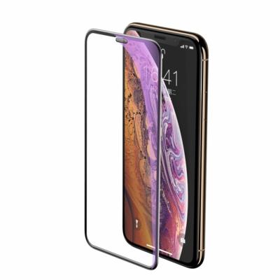 Baseus Full-screen Full Coverage Kék-sugár szűrő 3D fekete üvegfólia iPhone 11 Pro Max