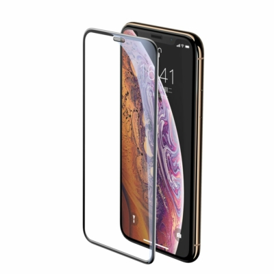 Baseus Full-screen Full Coverage 3D fekete üvegfólia iPhone XS Max