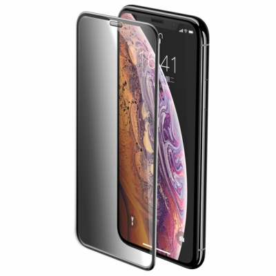 Baseus Full-screen Full Coverage 3D Edzett sötétített üvegfólia iPhone  11 Pro Max