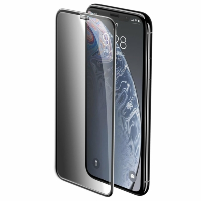 Baseus Full-screen Full Coverage 3D Edzett sötétített üvegfólia iPhone XR