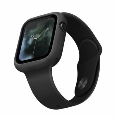 UNIQ Lino Védőtok Apple Watch 5 44mm / Watch 4 44mm fekete