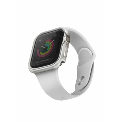 UNIQ Valencia Védőtok Apple Watch 5 40mm / Watch 4 40mm ezüst