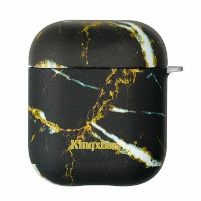 Kingxbar AirPods Szilikon védőtok Fekete márvány