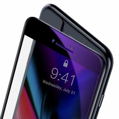Baseus 0.23mm curved-screen kék-sugárszűrő fekete üvegfólia iPhone 8 Plus