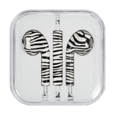 Vezetékes fülhallgató zebra
