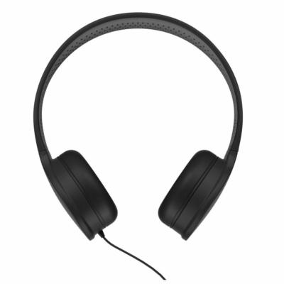 WK Design wired fekete fejhallgató