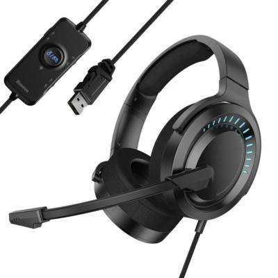 Baseus GAMO USB fekete fejhallgató