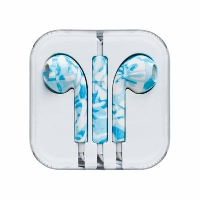 Vezetékes fülhallgató kék márvány