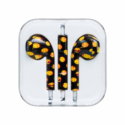 Vezetékes fülhallgató fekete emoji