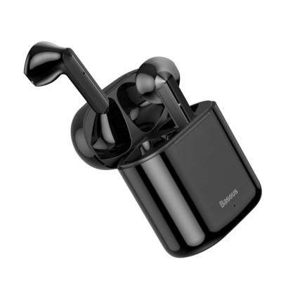 Baseus TWS Encok W09 mini Bluetooth fülhallgató töltővel fekete