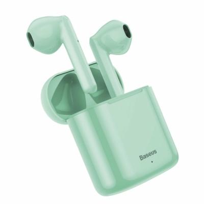 Baseus TWS Encok W09 mini Bluetooth fülhallgató töltővel zöld