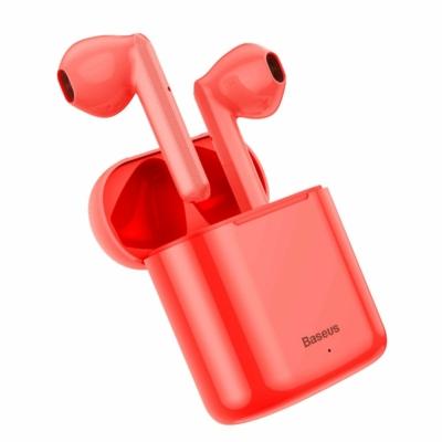 Baseus TWS Encok W09 mini Bluetooth fülhallgató töltővel piros