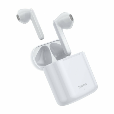 Baseus TWS Encok W09 mini Bluetooth fülhallgató töltővel fehér