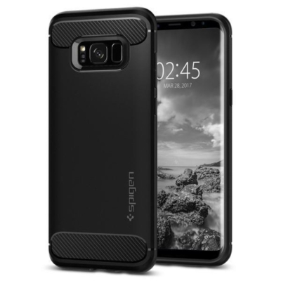 Spigen Rugged Armor Galaxy S8 Fekete