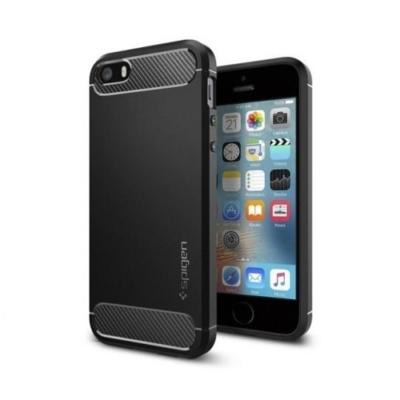 Spigen Rugged Armor iPhone 5S / SE fekete