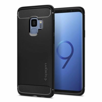 Spigen Rugged Armor tok Samsung Galaxy S9 matt fekete