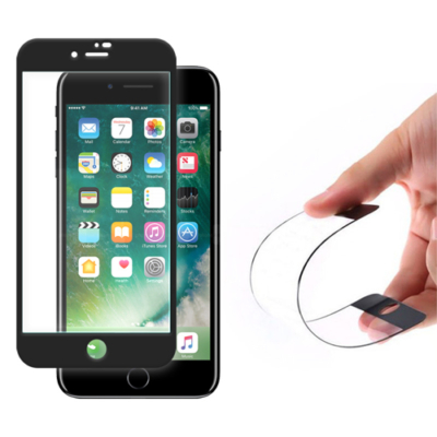 Wozinsky Full Cover Flexi Nano Glass Hybrid Screen üvegfólia fekete iPhone 8 Plus