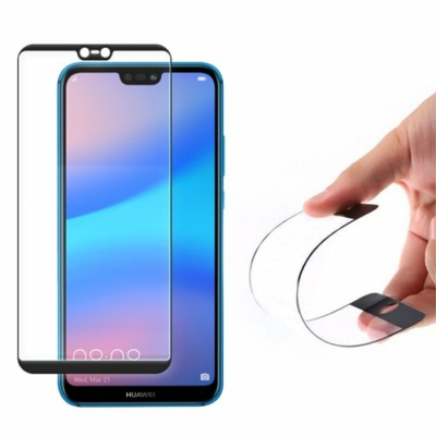 Wozinsky Full Cover Flexi Nano Glass Hybrid Screen üvegfólia fekete Huawei P20 Lite fekete