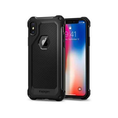 Spigen Rugged armor fekete iPhone X