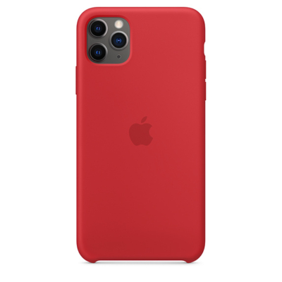 Apple iPhone 11 Pro Max Silicone Red Case