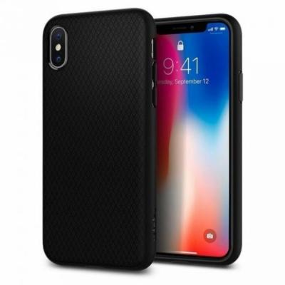 Spigen Liquid Air fekete iPhone X / XS