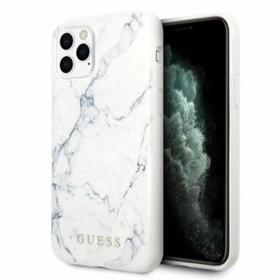 Guess fehér márvány iPhone X / XS