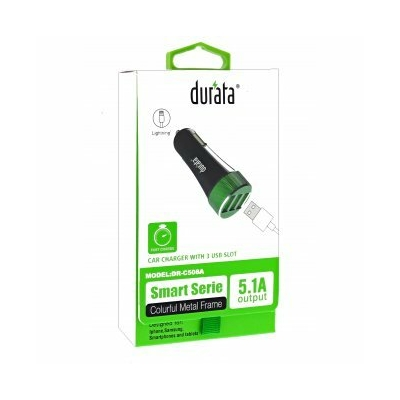 Durata Car Charger 3 USB fekete