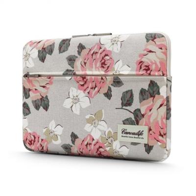 "Canvaslife MacBook 13"" Dark Blue-Virágos"