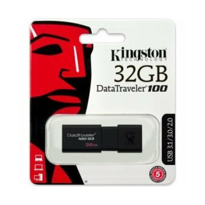 Kingston USB Pendrive 32 GB DT100 G3 Fekete