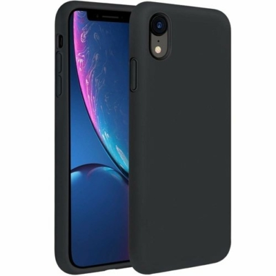 Silicone Case Soft Flexible iPhone XR Black