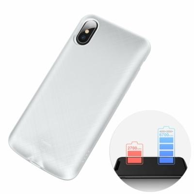 Baseus 4000mAh-es beépített Powerbank tok fehér iPhone X
