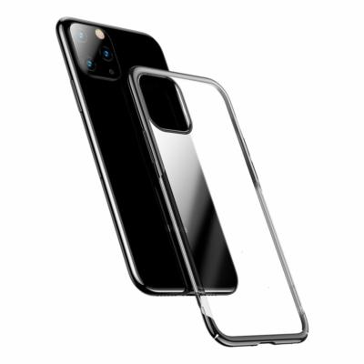Baseus Glitter kemény tok átlátszó galvanizált borítás fekete iPhone 11