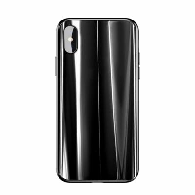 Baseus Glass Sparkling üveg borítású tok fekete iPhone XS